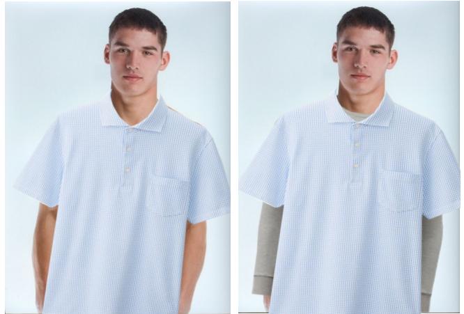 Polo Short Sleeves Shirt Long Sleeves Undershirt For